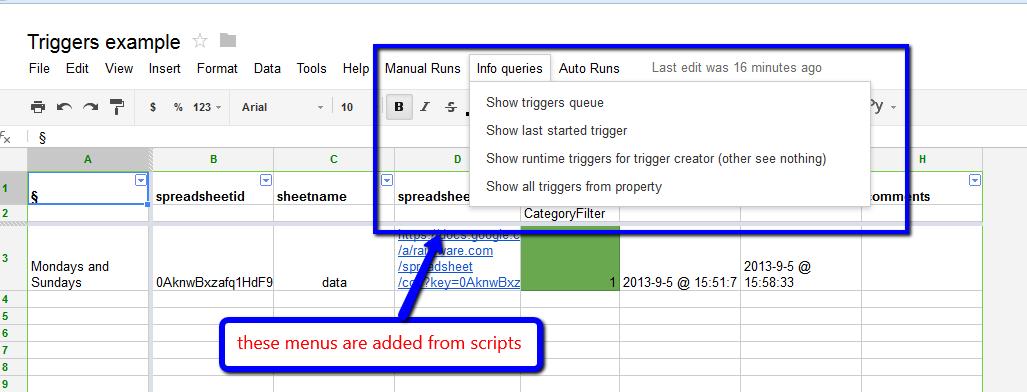 google script how to start trigger