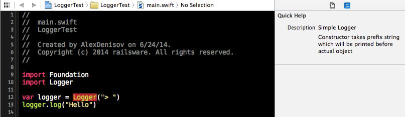 Swift module documentation
