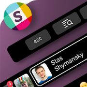 Touch Bar interface for Slack