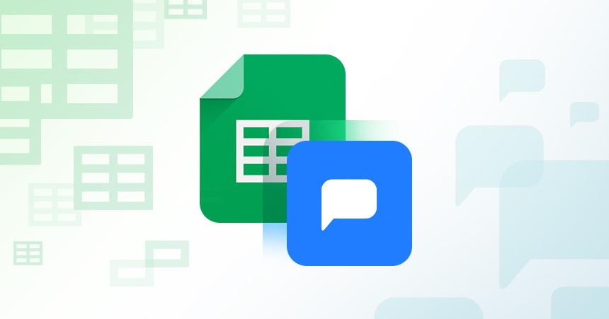 Drift widget + Google Spreadsheets add-on