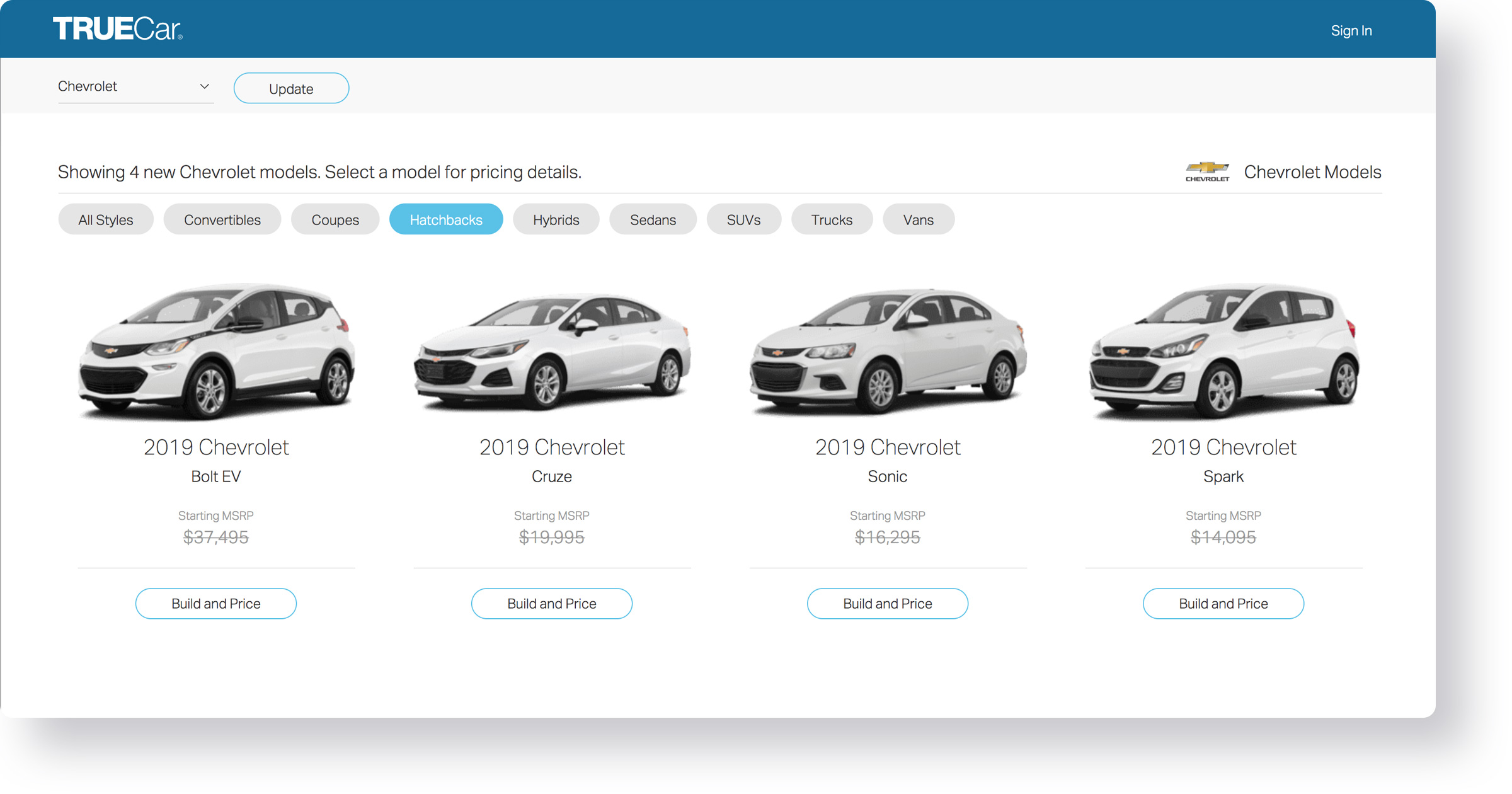 TrueCar - Ruby on Rails website
