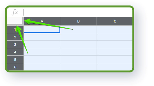 Google Sheets structure - freeze columns in google sheets