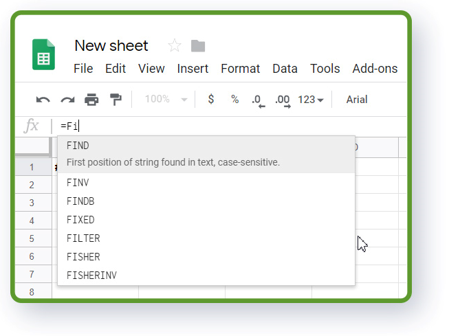 Google Sheets functions