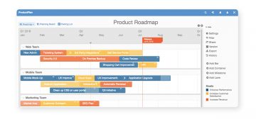 Product Roadmap with deadlines