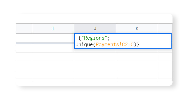 Data Validation in Google Sheets