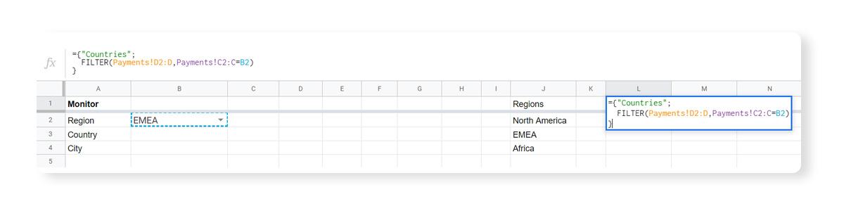 Gsheets data validation