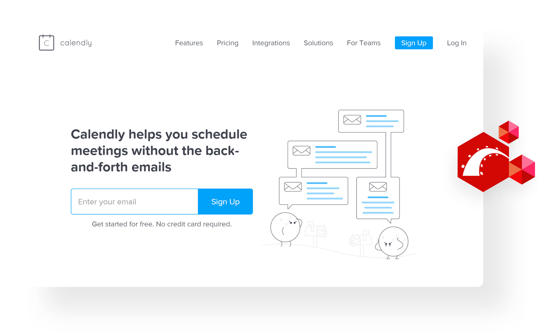 Popular web applications built with Rails - Calendly