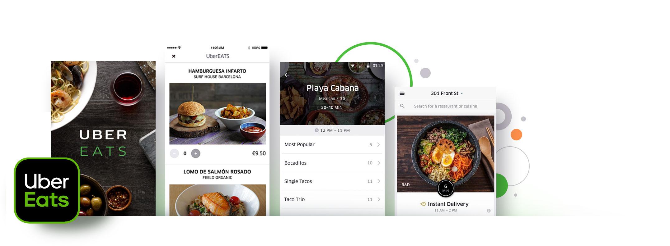 React Native app examples - Uber Eats App