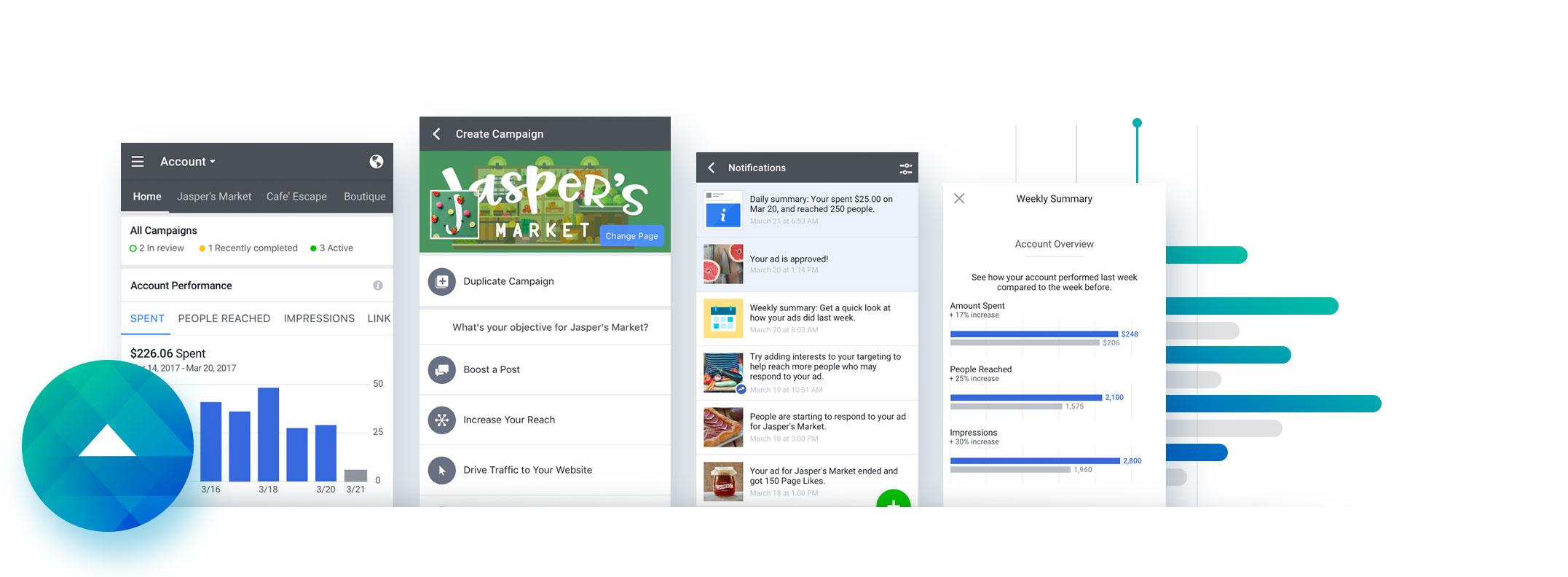 React Native app example - Facebook React Native App